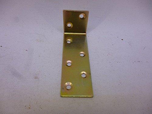 10 Winkelverbinder, Bauwinkel, 75 mm x 30 mm x 25 mm x 1,5 mm, G, verzinkt