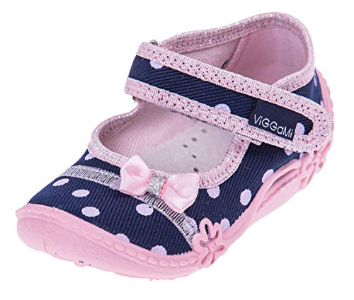 Viggami -Zapatos para Bebe Niñas -Plantilla de Cuero -Muchos Colores y Diseños -Rosa -Azul Marino...