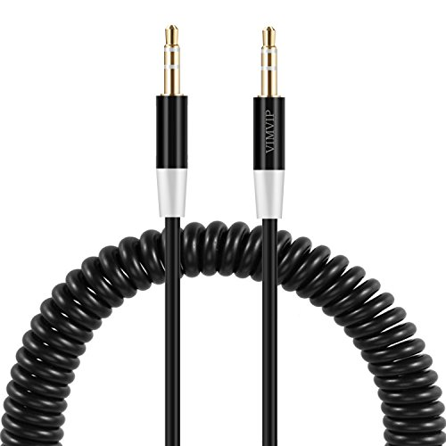 NEXTANY Flexible Spring 3.5mm To 3.5 mm Car Aux Audio Cable for iPhone,ipod,iPad,mp3,mp4,phone