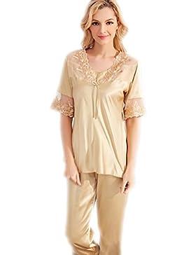 CHUNHUA nuovi pigiami del merletto di modo che imita la seta bretelle di seta della principessa pigiama vestito...