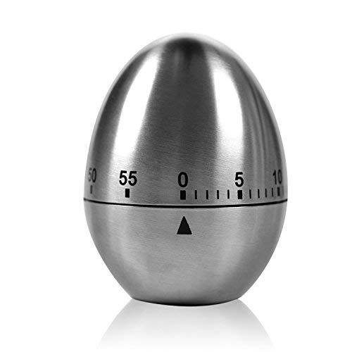 """Zeitmesser Küche TURATA Kurzzeitmesser magnetisch """"Ei"""" Küchentimer Eiförmige lustige Eieruhr Edelstahl rostfrei Kurzzeitwecker küche mit Stoppuhr Handwäsche"""