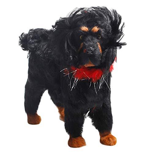 LUCKFY Simulation Hund Modell Figuren Tiere Haustier Welpen Puppe spielt Ornament Props für Desktop Auto Haus Dekor Spielzeug Geschenk