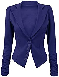 Be Jealous Womens Ladies Celeb Long Ruched Sleeve Smart Slim Office Collared Casual Blazer Coat Jacket