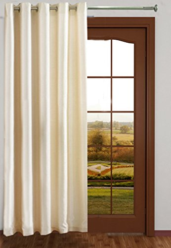 Homefab India Royal Silky Cream Door Curtain(HF042) 7X4ft(1 pc Curtain)