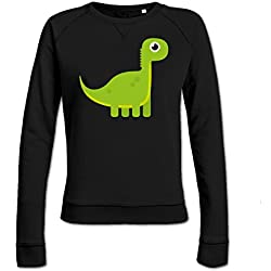 Sudadera de mujer Green Cute Dinosaur by Shirtcity