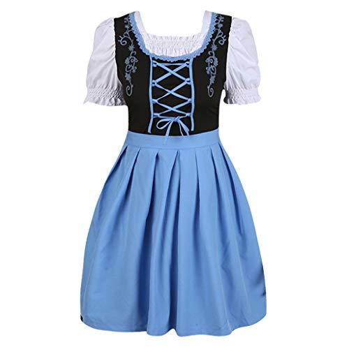 SHE.White Damen Mittelalter Retro Kurzarm Anime Maid Cosplay Kostüm Maid Outfit Halloween Französisch Maid Schürze Kostüm Große Größe Kleid M-5XL