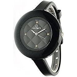 OPSOBJECTS · OPS!MATELASSÈ CRYSTAL WATCHES · Armbanduhr | Uhrarmband | Uhrband · schwarz silber