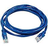 uxcell 6 ft Feet 1.8M RJ45 CAT5 CAT 5 Lan Network Cable Blue for Ethernet Router Switch