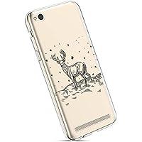 YSIMEE para Fundas Xiaomi Redmi 5A Estuches,Fundas Transparente Silicona Goma Suave Ultra Fina Delgado Gel Bumper TPU Goma Protectora Carcasas para Xiaomi Redmi 5A -Alce