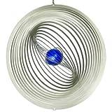 Edelstahl Windspiel - STRUDEL 300 - lichtreflektierend - Durchmesser: 30cm - inkl. Aufhängung und Glaskugel