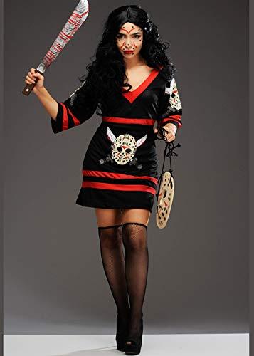Magic Box Int. Womens Halloween Fräulein Jason Voorhees Kostüm M (UK 10-12) (Womens Jason Kostüm)