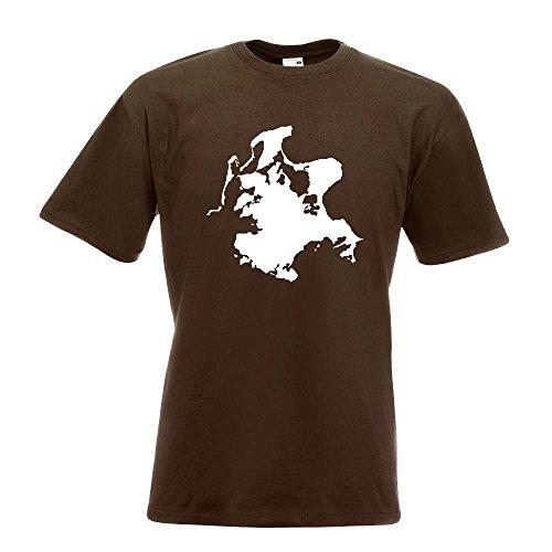 KIWISTAR - Rügen - Deutschland - Insel T-Shirt in 15 verschiedenen Farben - Herren Funshirt bedruckt Design Sprüche Spruch Motive Oberteil Baumwolle Print Größe S M L XL XXL Chocolate