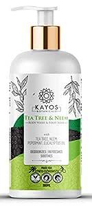 Kayos Tea Tree & Neem Body Wash & Foot Soak for Body Odour, Itchy Scalp & Skin Irritations - 300 ml