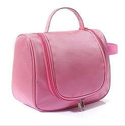 Okayji Unisex Toiletry Cosmetic & Makeup Travel Bag (Baby Pink)