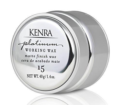 Kenro Platinum Cire coiffante Platinum Working Wax - Tenue moyenne flexible pour texture et définition - 41 ml (1.4 oz)
