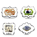 4pcs Blessing Wedding Frame Cookie Cutte...