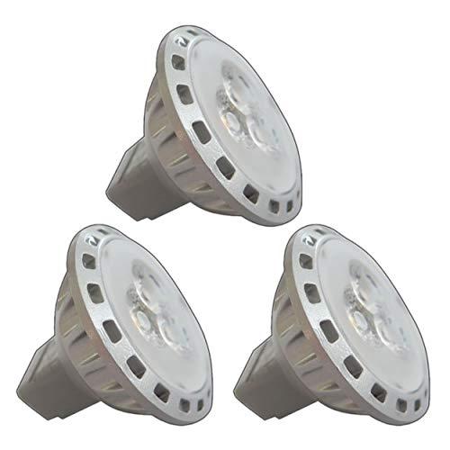 3x Stück - MR11 / GU4 LED 2,5/4,0 Watt 12V AC/DC warmweiß Spot 30° Grad Energiesparlampe Lampe Strahler 12V~ Wechselspannung (MR11-2,5W) -