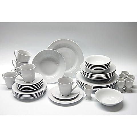 Retsch Arzberg 030031421 'Jasmin' Kombiservice, Porzellan, runde Form, weiß, 42-teilig (1 Set)