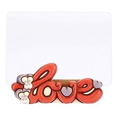 Idea Regalo - THUN ® - Cornice Portafoto Rettangolare da Tavolo Medio - Formato 14 x 7 cm - Decorazione Panda Love - Vetro