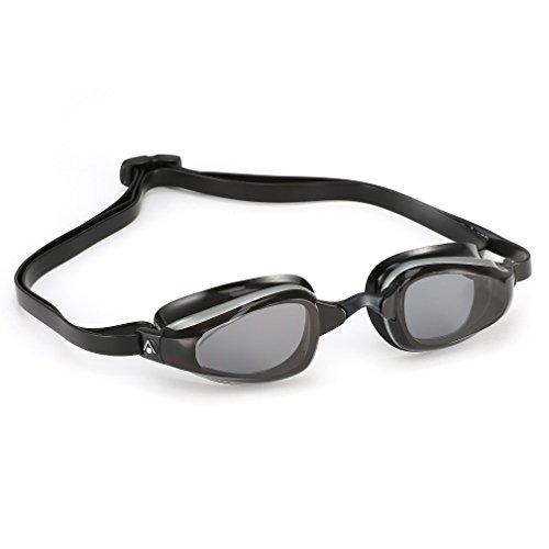 MPTM (Michael Phelps) Unisex- Erwachsene K180 Schwimmbrille, Getönte Gläser - Schwarz/Silber, One Size
