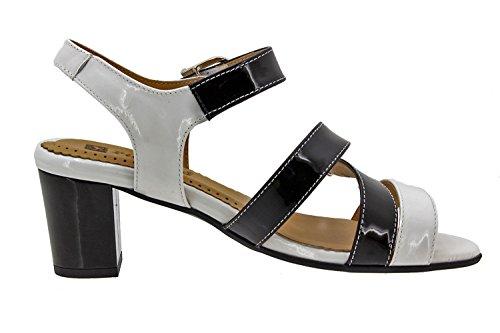 Komfort Damenlederschuh Piesanto 8496 sandale bequem breit wei�