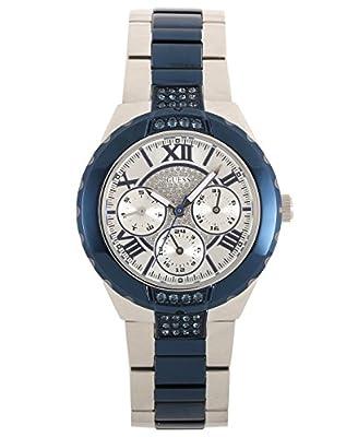 Guess-Reloj de pulsera analógico para mujer cuarzo, revestimiento de acero inoxidable w0413l1