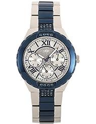 Guess Damen-Armbanduhr Analog Quarz Edelstahl beschichtet W0413L1