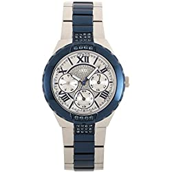 Guess Women's Quartz Watch with Black Dial Analogue Display Quartz Stainless Steel Coated W0413L1