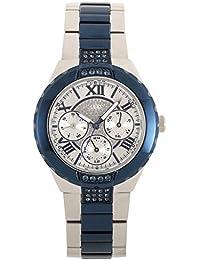 GUESS Damen-Armbanduhr Viva Analog Quarz Edelstahl W0413L1