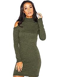 ab3c341dc5c07 Vestito Maglia Donna Invernale Moda Sexy Abito Spalle Scoperte Corto Maglione  Vestiti Tubino Ragazza Abiti Aderenti