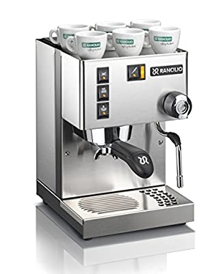 Rancilio Silvia Espresso Machine with Iron Frame and Stainless Steel Side Panel, 11.4 x 13.4-Inch