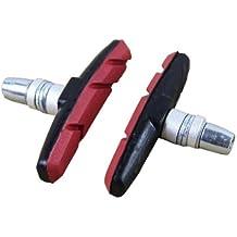 HeroNeo Pastillas de freno V para bicicleta, 1 par, color rojo
