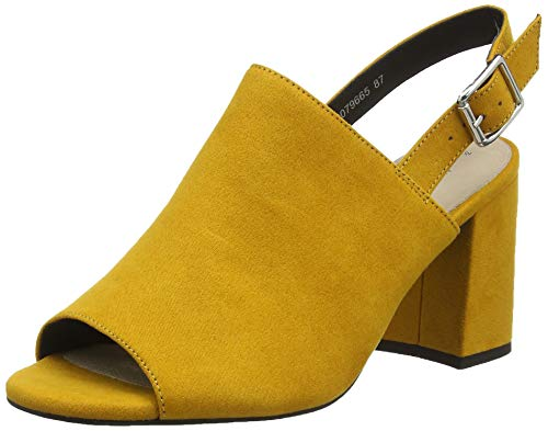 New Look Strive, Scarpe col Tacco Punta Aperta Donna, Giallo (Dark Yellow 87), 40 EU