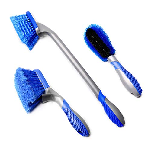 Vektenxi Autowaschbürste 3 Stück Bürste Autowasch-Reifenbürste Bürste Multifunktionsbürste 360 ??Grad Reinigung Autowaschzubehör Kreativ und nützlich