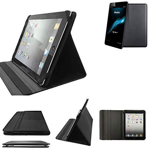 K-S-Trade Haier HaierPad Mini 781 Schutz Hülle Business Case Tablet Schutzhülle Flip Cover Ultra Slim Bookstyle Tasche für Haier HaierPad Mini 781, schwarz. Kunstleder Qualitätsware -