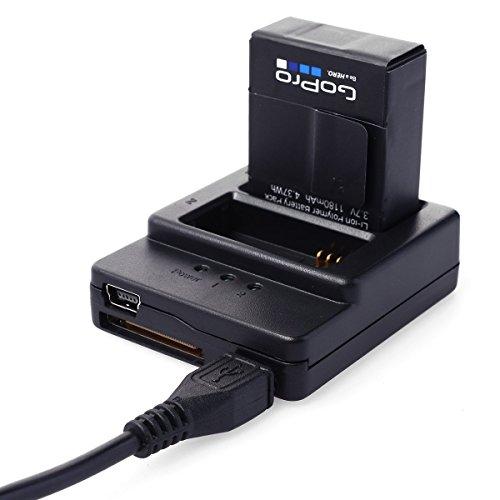 XCSOURCE® Nueva Calidad Negro Dual 2Cargador de batería universal USB 3Puerto para Gopro Hero 33+ OS64