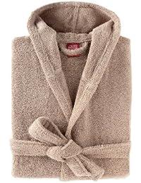 Peignoir capuche - coton peigné 450 g/m² sable BLANC CERISE sable