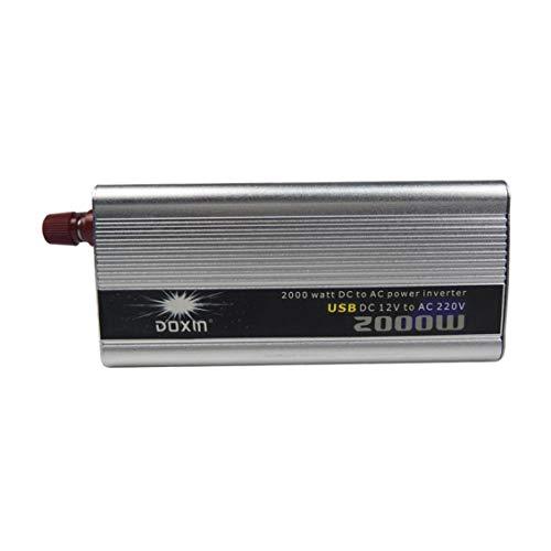 AWIS Auto Wechselrichter 2000W, DC 12V / 24V zu AC 220V Spannungswandler, Leistungswandler für Laptop, Kamera, Smartphone