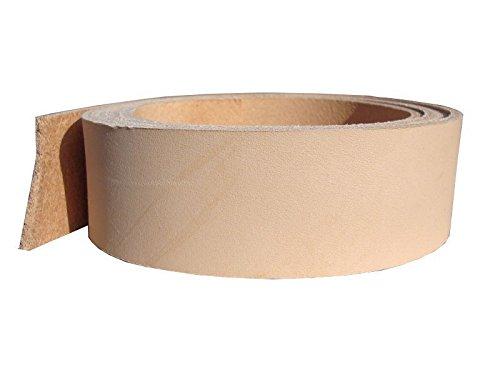 Vollrindleder Lederriemen 'Montana XL', extra langes Gürtelleder, 200cm lang, Farbe:natur,...