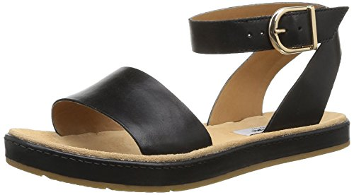 Clarks - Romantic Moon, Sandali alla moda Donna, Nero (Black Leather), 38