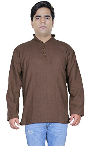 mens-shirt-long-sleeves-khaadi-cotton-kurta-dress-gents-indian-yoga-kurta-m
