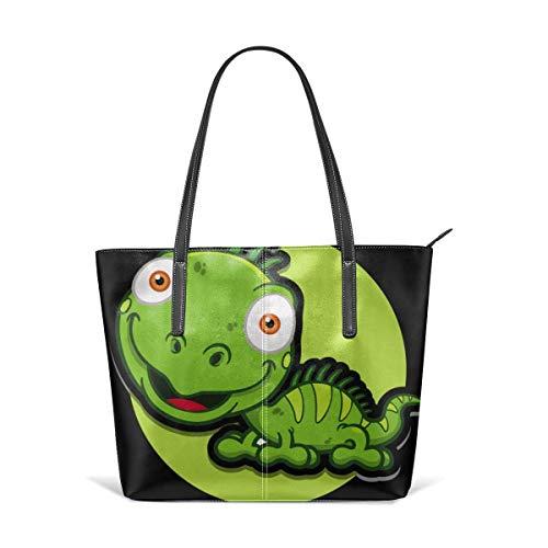 XGBags Custom Soft Leather Big Headed Lizard Leather Zipper Tote Ladies Shoulder Bag Shoulder Bag For Travel Shopping Tote Umhängetaschen