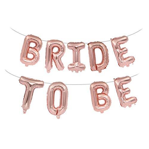 ZheQR 16 Zoll Rose Gold Braut Brief Folienballon Liebes Ballon Hochzeit Braut Dusche Engagement Hen Party Decor Supplies-5 (Decor Engagement Party)