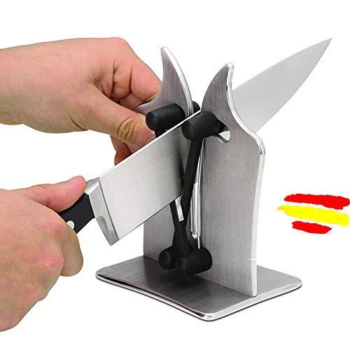 W.Health Afilador de Cuchillos de Cocina Bavarian Edge, Afilador de Metal. Afilador para Cuchillos Lisos y de Sierra