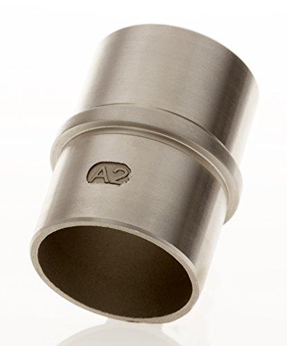 Tubo de acero inoxidable Conector 42,4x 2,0para barandilla | Fitting con barra...