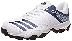 adidas Mens Howzat Ind Ftwwht and Mysblu Cricket Shoes - 11 UK/India (46 EU)