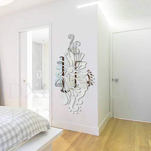 FOMBV Wandaufkleber böhmischen ethnischen dekorative Spiegel Acryl Wandaufkleber Wohnzimmer Schlafzimmer Wanddekoration Zimmertür Dekoration - Ethnischen Spiegel