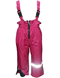 Outburst - Bébés filles pluie pantalons extérieur pantalons pantalons de ski salopettes polaire doublure imperméable à l'eau, rose