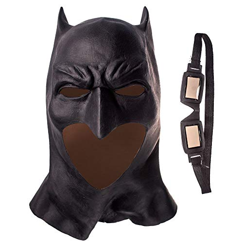 Batman Kostüm Realistische - Realistische Halloween Voller Gesicht Latex Batman Maske Kostüm Superheld Der Dunkle Ritter Steigt Film Party Masken Karneval Cosplay Requisiten