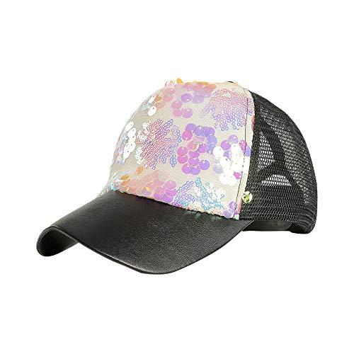 Syeytx Unisex Outdoor Multicolor Mode Meerjungfrau hängen Stück Pailletten Farbe Baseball Caps Einstellbarer Hut - Gucci Cap Hut